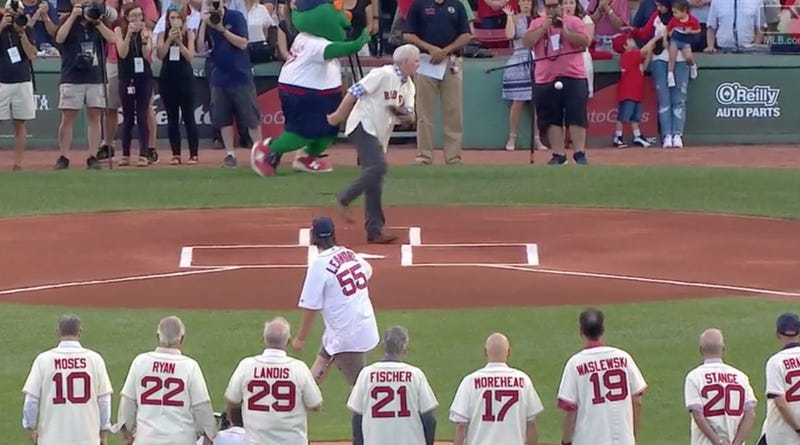 Errant First Pitch At Red Sox Game Nails Photographer In The Dick