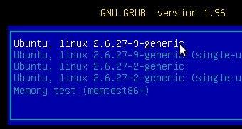 Illustration for article titled Customize Ubuntu 9.10's Grub Boot Screen