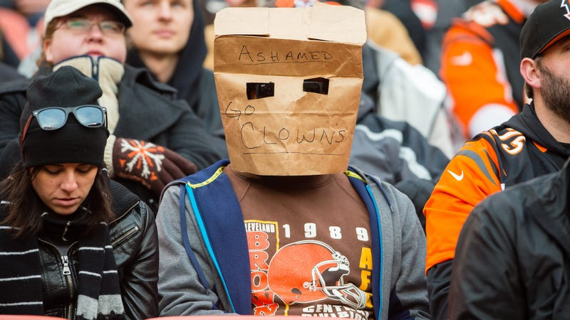 A potential photo of Bill Barnwell secretly scouting for the Browns. Photo credit: Jason Miller/Getty