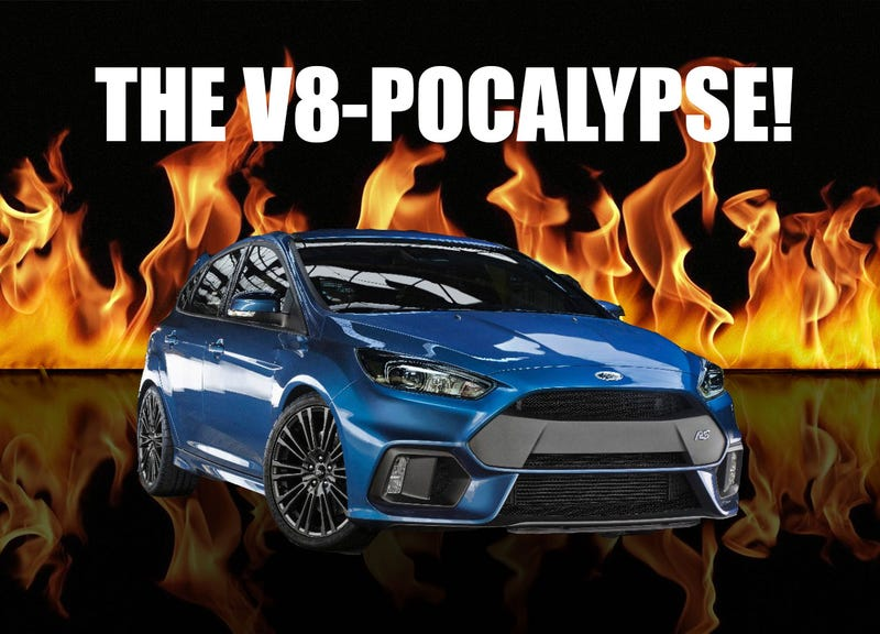 Illustration for article titled The Focus, Mustang, and GT are Messengers of the V8-Pocalypse