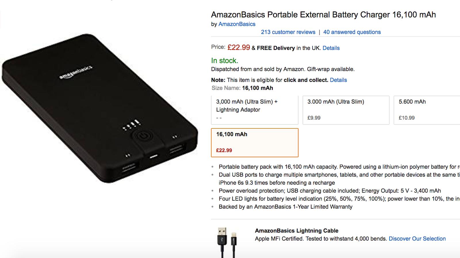 Amazon Recalls Six Faulty AmazonBasics Power Banks