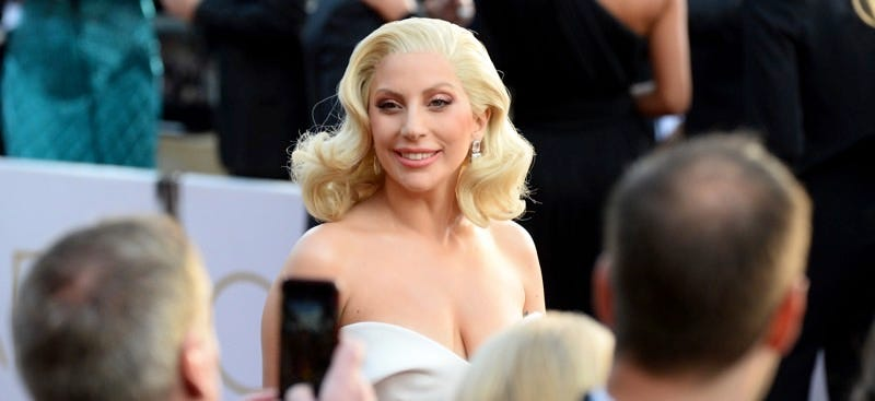 Lady Gaga arrives at the Oscars on February 28, 2016. Photo by Al Powers/Invision/AP