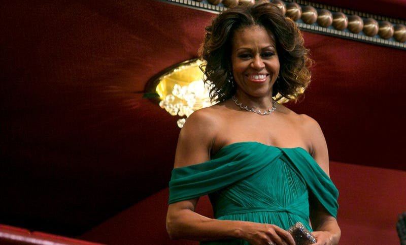 First lady Michelle Obama attends the 2013 Kennedy Center Honors on December 8, 2013 in Washington, DC.