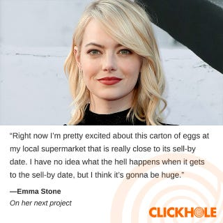 Illustration for article titled Emma Stone said WHAT?!