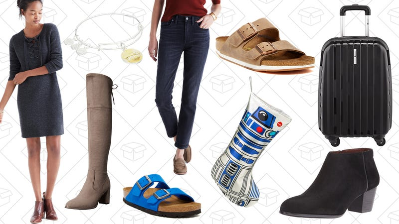 Illustration for article titled Today's Best Lifestyle Deals: Boots, Luggage and Jewelry from Amazon, ThinkGeek, Birkenstock and More