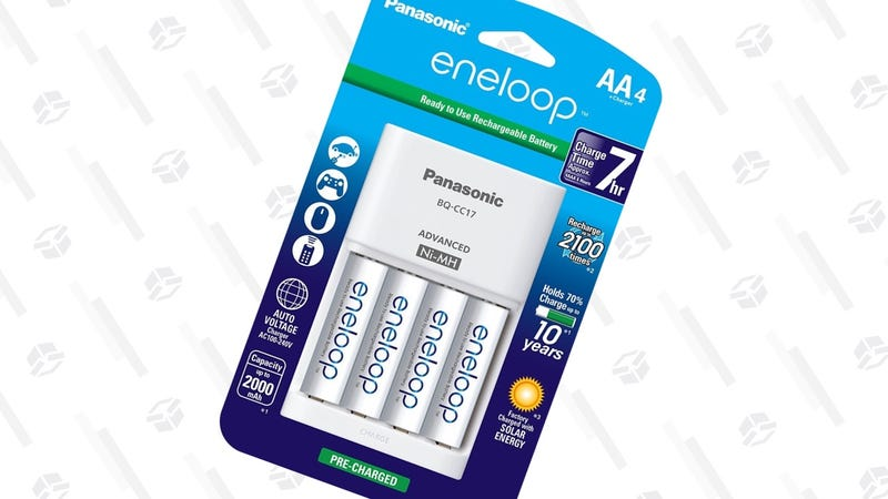 Eneloop AA 4-Pack with Charger   $16   Amazon
