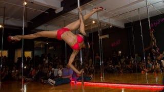 Sasja Lee stuns the crowd at the Black Girls Pole inaugural event in 2014.David Haws