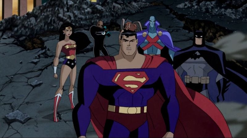"""Illustration for article titled Justice League Unlimited: """"Divided We Fall"""""""