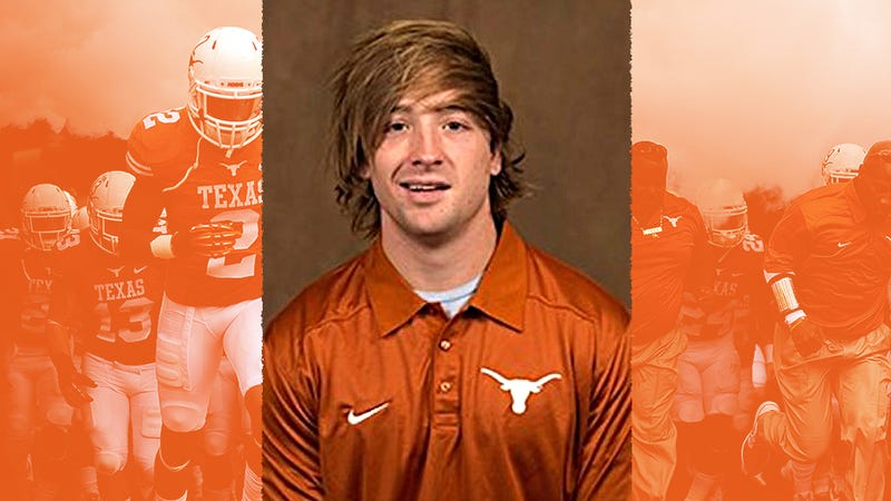Illustration for article titled Texas Longhorns Kicker Has The Best Roster Headshot