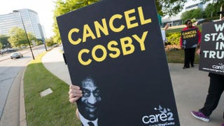 Protesters gather outside Bill Cosby's Far From Finished tour at Cobb Energy Performing Arts Center May 2, 2015, in Atlanta.Marcus Ingram/Getty Images