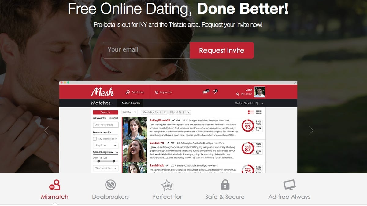 Meet Mesh, a Dating Site That Sifts Out Spammers and Harassers