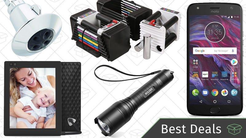 Illustration for article titled Sunday's Best Deals: Dumbbells, Smartphones, Shower Heads, and More