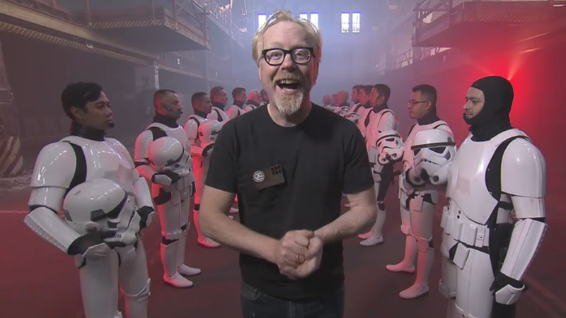 Illustration for article titled MythBusters Tests Your Favorite Star Wars Stunts Tonight at 8PM ET