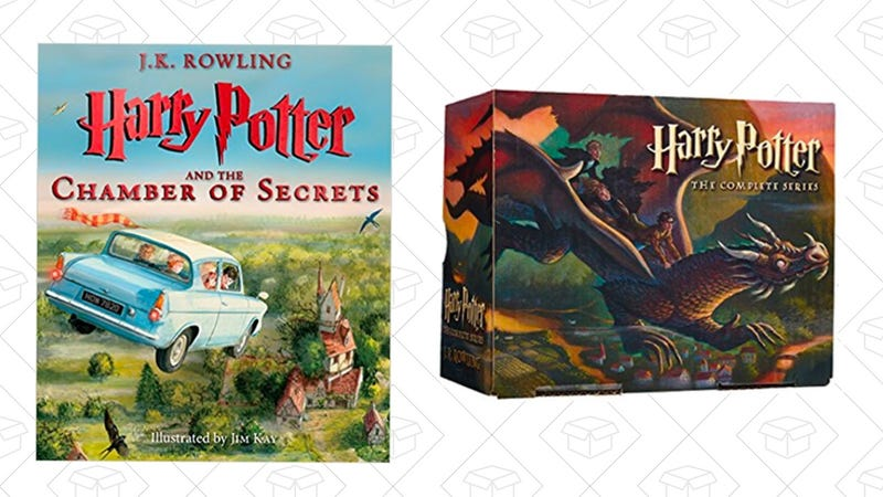 Harry Potter and the Chamber of Secrets: The Illustrated Edition | $7 | AmazonHarry Potter Paperback Box Set (Books 1-7) | $16 | Amazon | Use code BOOKGIFT17