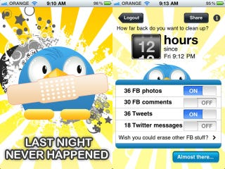 Illustration for article titled An App for the Morning After, Which Deletes Those Drunken Status Updates