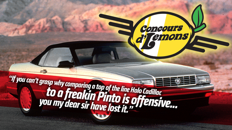 Illustration for article titled Cadillac Allanté Owners Sure Are Pissed At The Concours d'Lemons