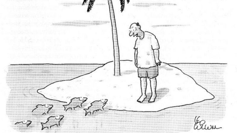 Illustration for article titled There are 3 captions that work with every New Yorker cartoon