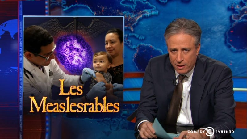 Illustration for article titled The Daily Show Blames Liberal 'Mindful Stupidity' For Measles Outbreak