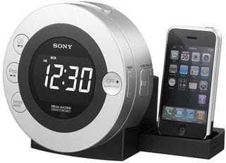 Illustration for article titled Sony's (Yes, Sony's) ICF-CD3i the Neatest Looking iPhone Clock/Radio Dock Yet