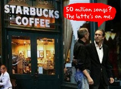 Illustration for article titled Starbucks To Start Up iTunes Wi-Fi Store with 50 Million Free Songs
