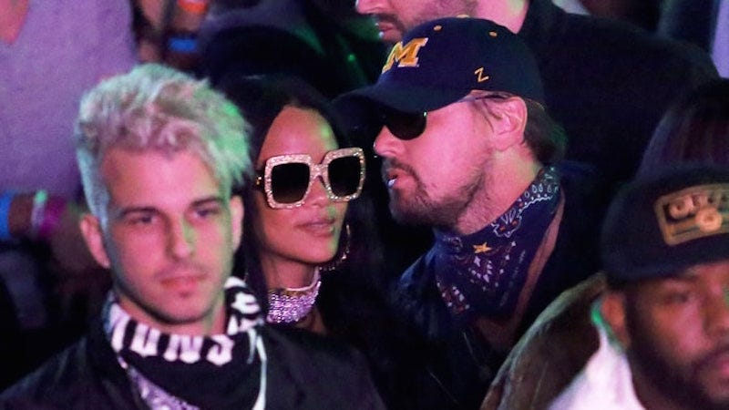 Illustration for article titled Uh Oh, Drake: Check Out Rihanna and Leonardo DiCaprio Hanging At Coachella