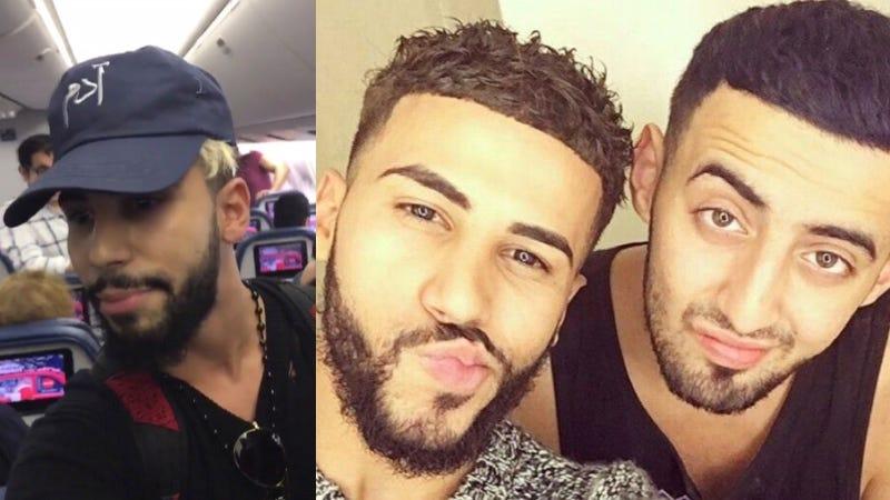 Adam Saleh y Slim Albaher. Imágenes: Twitter