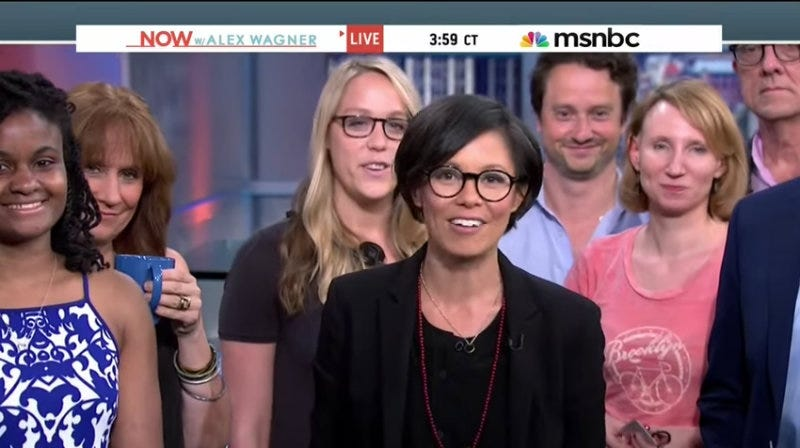 Illustration for article titled MSNBC Cancels Planned Show for Alex Wagner As Network Becomes Noticeably Whiter