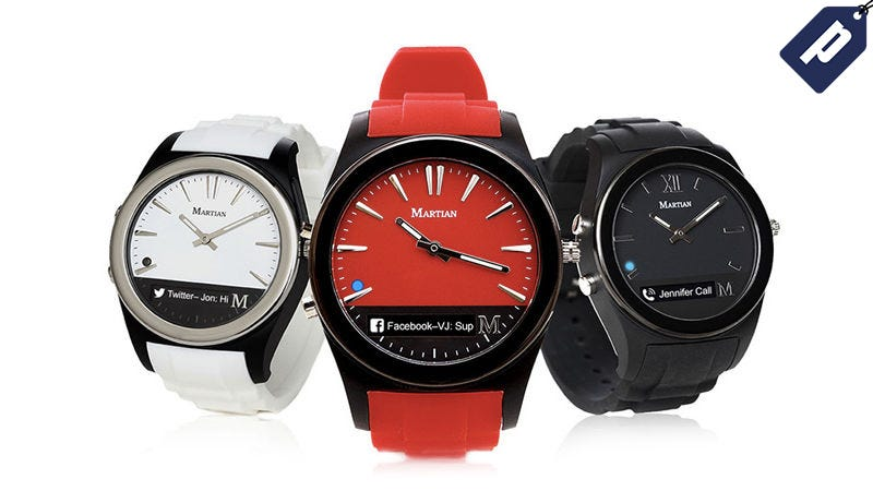 Illustration for article titled The Martian Notifier Smartwatch Is Now 75% Off ($30)