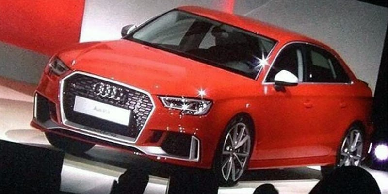 Illustration for article titled 2018 Audi RS3 sedan is coming to the U.S....details and images leaked.