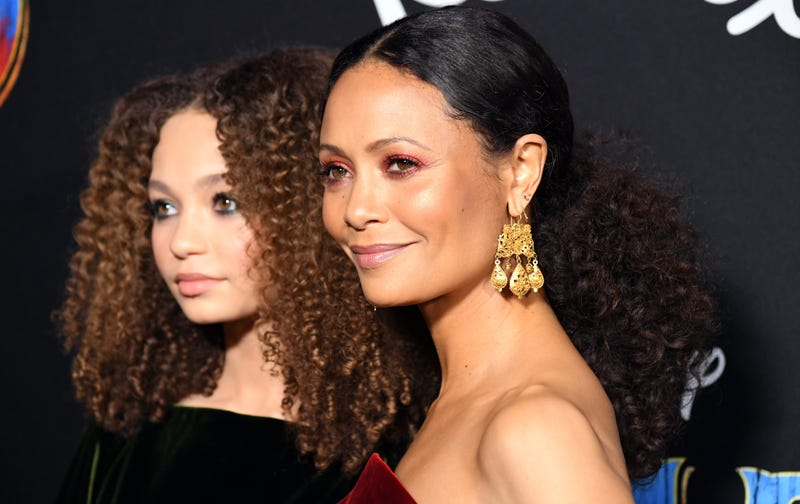 Nico Parker and Thandie Newton attend the premiere of Disney's 'Dumbo' at El Capitan Theatre on March 11, 2019 in Los Angeles, California.