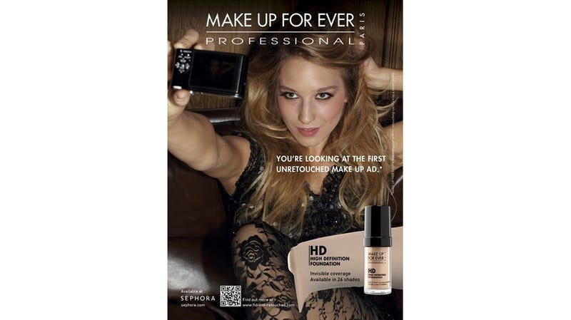 Illustration for article titled Make Up Ad Brags About Being Photoshop-Free