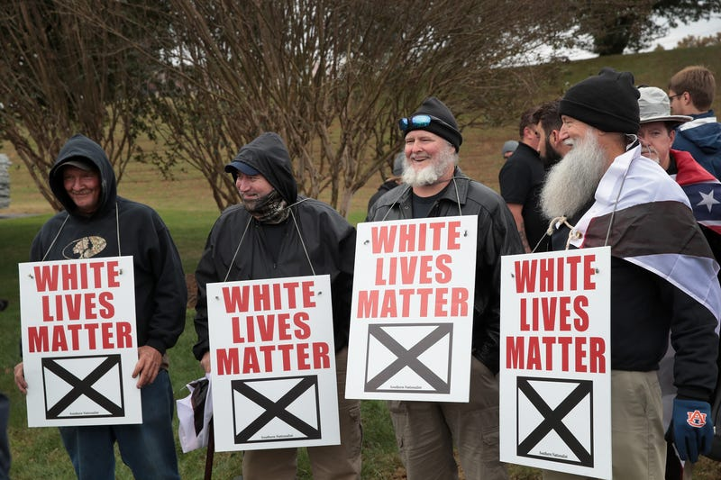 White nationalists attend a rally on Oct. 28, 2017, in Shelbyville, Tenn.  (Scott Olson/Getty Images)