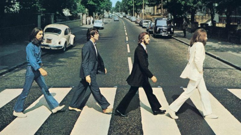The cover to The Beatles' Abbey Road
