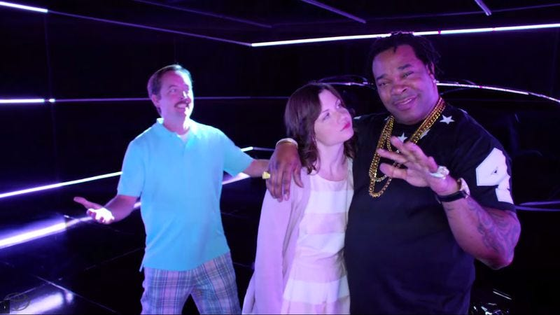 """Illustration for article titled Busta Rhymes crashes Toyota's awful """"Swagger Wagon"""" commercial"""