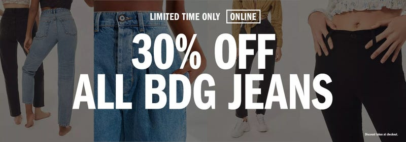 30% off all BDG jeans | Urban Outfitters