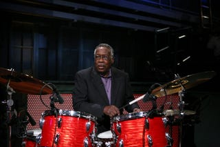 Clyde Stubblefield on Late Night With Jimmy Fallon on March 29, 2011 (Lloyd Bishop/NBC/NBCU Photo Bank via Getty Images)
