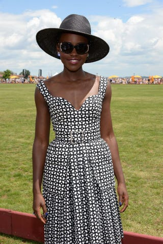 Lupita Nyong'o attends the seventh annual Veuve Clicquot Polo Classic in Liberty State Park in Jersey City, N.J., May 31, 2014. Dimitrios Kambouris/Getty Images for Veuve Clicquot