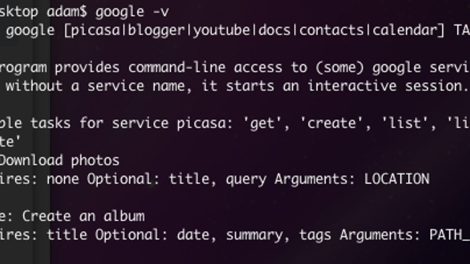 Five Really Handy Google Command Line Tricks