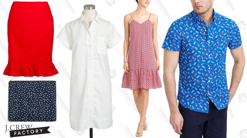 Extra 50% off clearance items | J.Crew Factory | Use code EXTRA50
