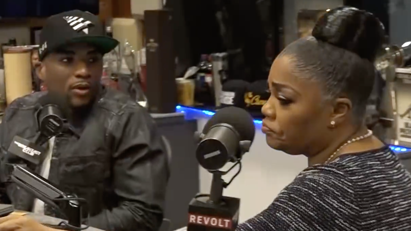Charlamagne tha God and Mo'Nique on The Breakfast Club