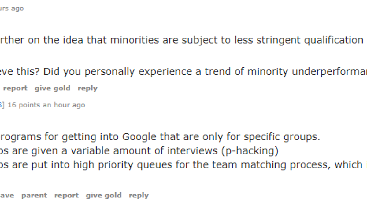 Fired Google Engineer James Damore Takes His Case to Reddit
