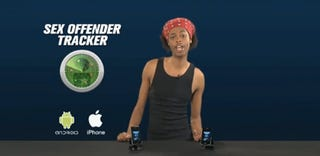 Illustration for article titled Antoine Dodson's Sex Offender iPhone App Uses Augmented Reality to Find the Creeps