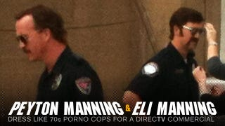 Illustration for article titled Peyton And Eli Manning Are: Football Cops