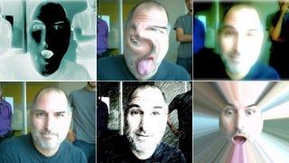 Illustration for article titled Happier Days: Steve Jobs Goofing Off with Photo Booth Back in 2005
