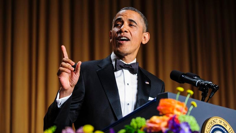 Obama at the White House Correspondents' Dinner (Photo: Pool/Getty)