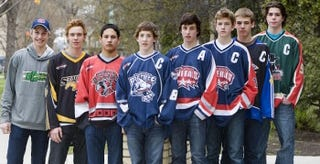 Pictured: the Saskatoon Minor Hockey Association class of 2012. L-R: Tate, Wyatt, Cameron, Connor, Dustin, Lane, Brad, Kody
