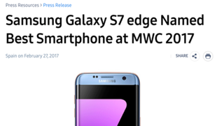 Imagen: anuncio oficial de Samsung para la prensa.