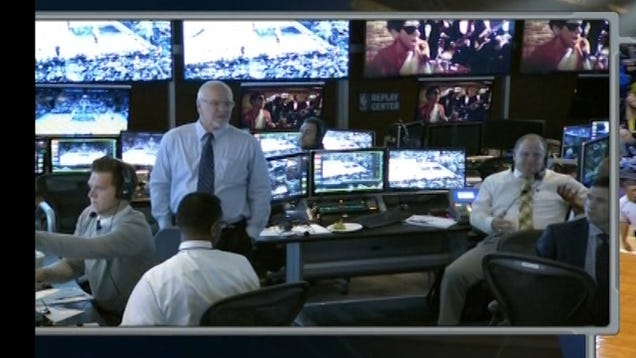 Why Is The NBA Replay Center Watching Animal House?