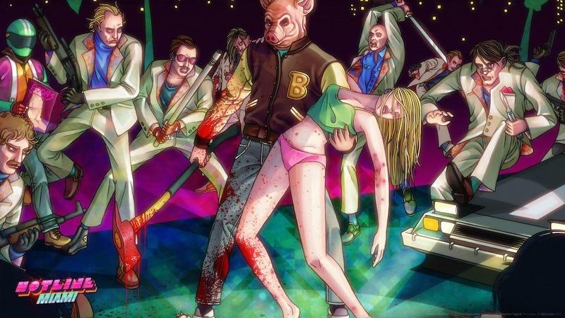 Illustration for article titled Hotline Miami Pop Mash-Ups Combine Murder And Kanye