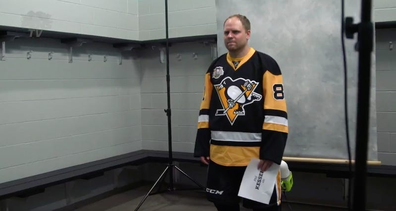 Illustration for article titled Phil Kessel Endures The Penguins' Media Day